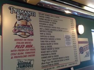 primanti menu